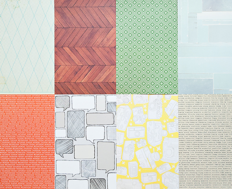 More Patterned Paper - October 2012