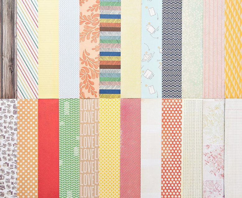 Add-On Patterned Paper - October 2012