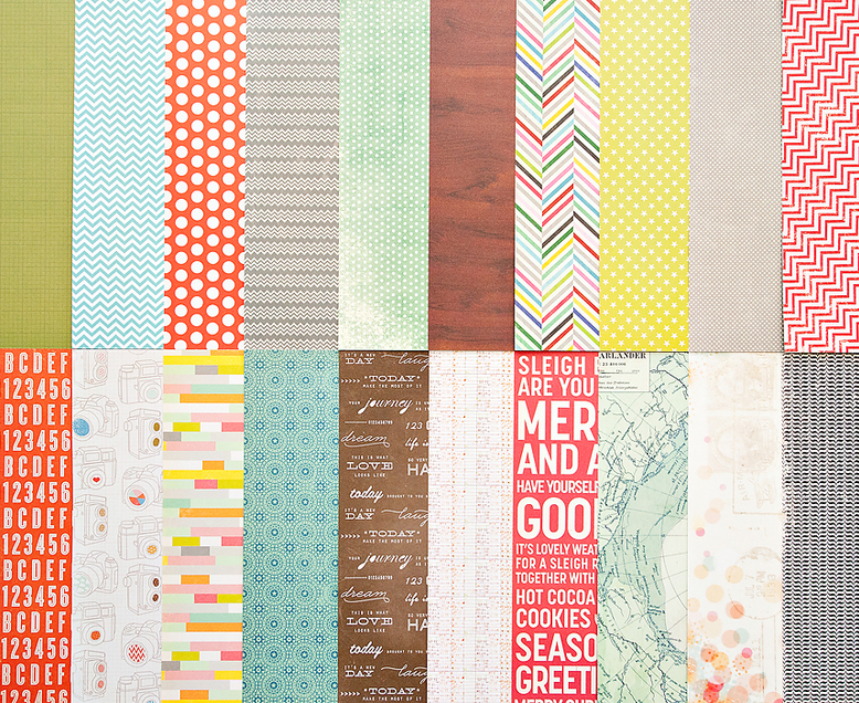 Add-On Patterned Paper - December 2012
