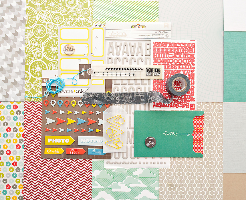 Picture 1 of Block Party Scrapbook Kit