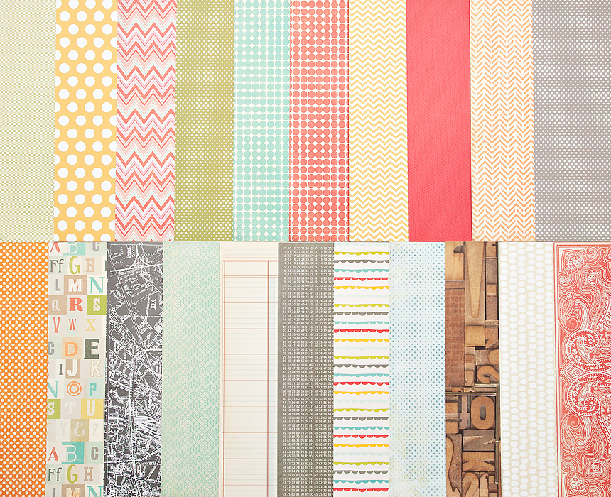 Picture 1 of Add-On Patterned Paper - January 2013