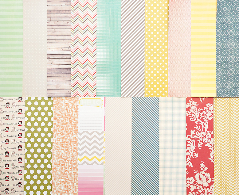 Add-on Patterned Paper -  February 2013