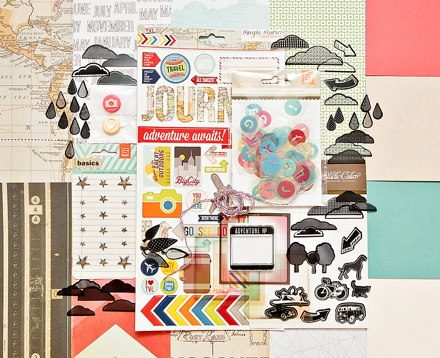 Picture 1 of ROUNDABOUT Scrapbook Kit