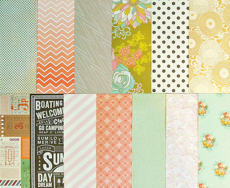 Add-on Patterned Paper - June 2013