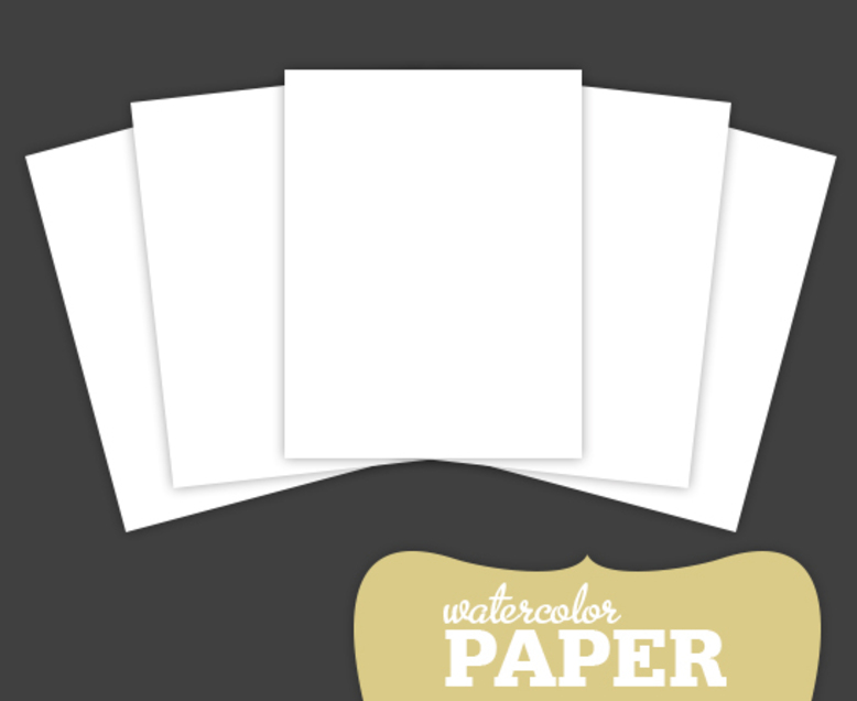 Watercolor Paper Pack (set of 5)