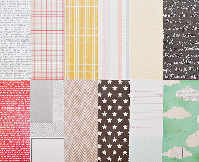 Add-on Patterned Paper - August 2013