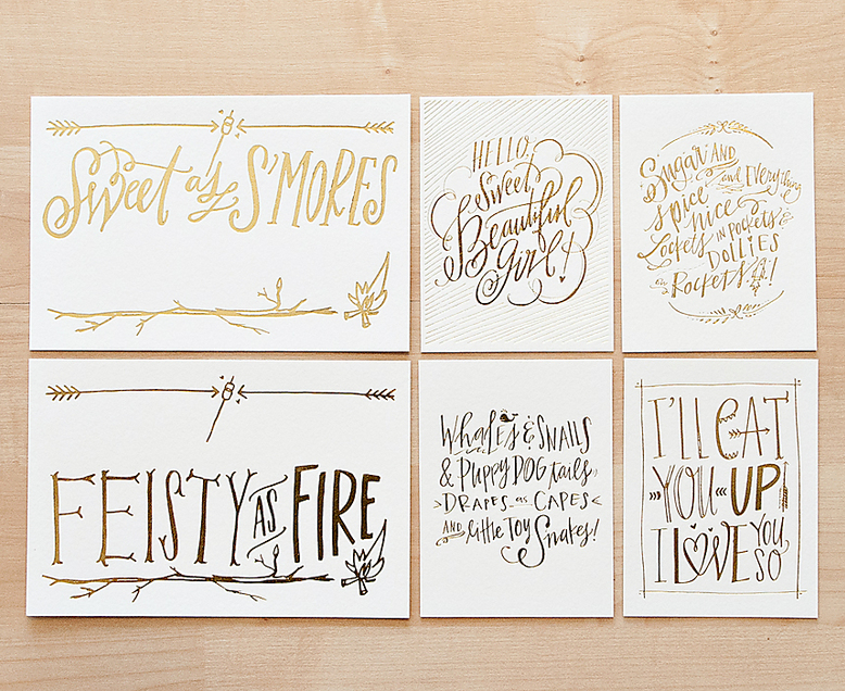 Lindsay Letters Letterpress Card Set