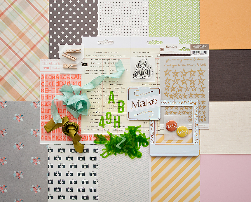 Picture 1 of ANTIQUARY Scrapbook Kit