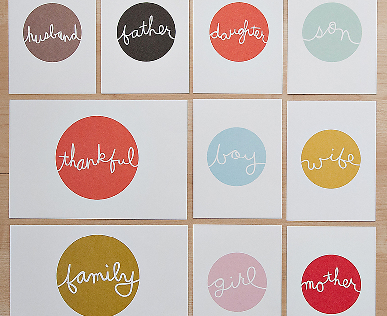 Family Cards by Paislee Press