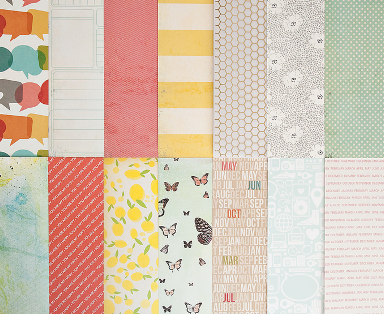 Add-on Patterned Paper - February 2014