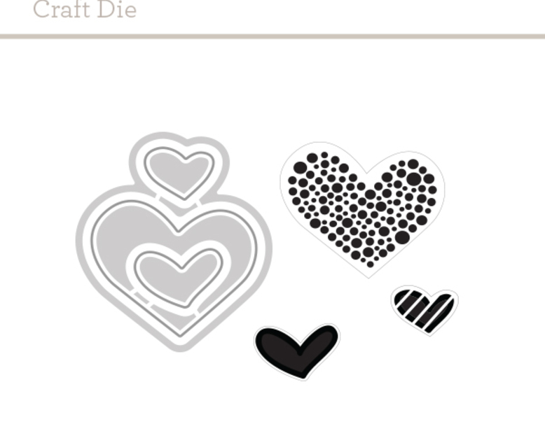 Craft Die: Wonky Hearts