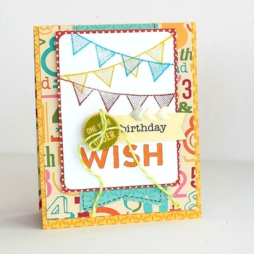 Birthday wish card by sarah webb original