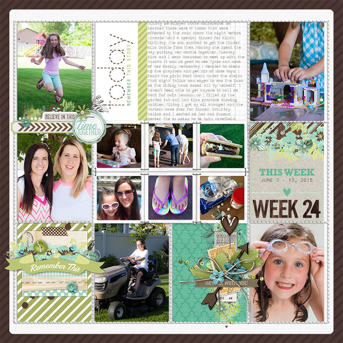 Project Life Ideas 2015 Project Life 2015 Week 24 w