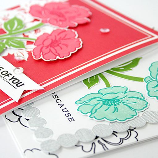 Vintage linen cards   side original