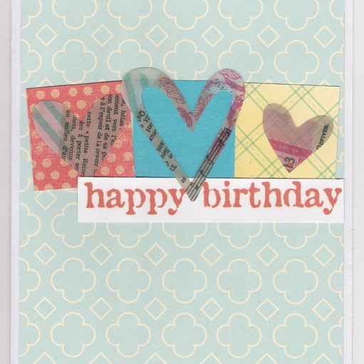 Three hearts bday card original