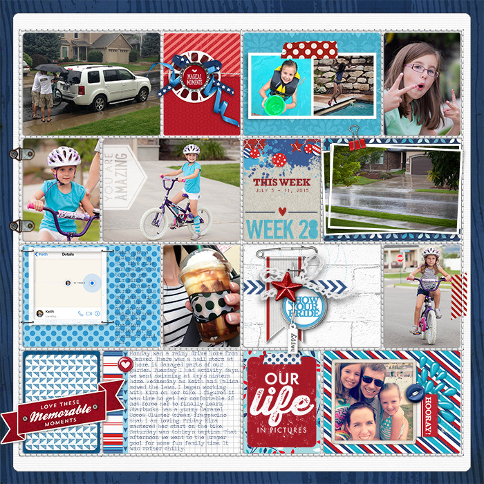 Project Life Ideas 2015 Project Life 2015 Week 28 w