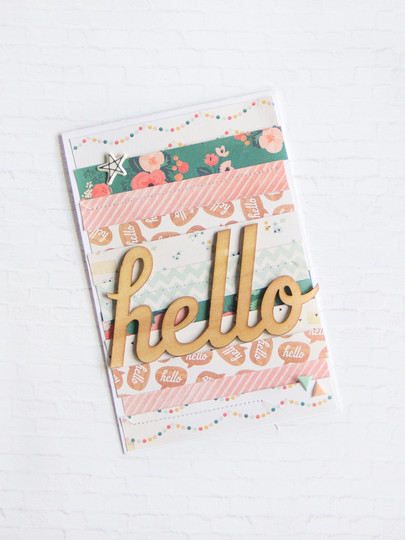 Hello scrapbooking card scatteredconfetti gossamerblue september 2.1 original