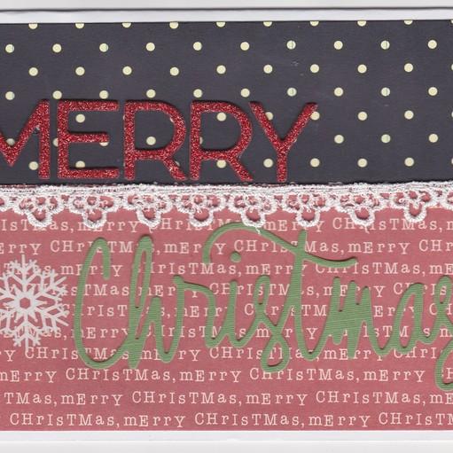 Merry christmas red glitter original