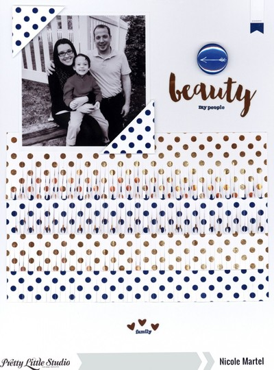 Beauty family pretty little studio nicole martel layout gold mine collection 759x1024 original