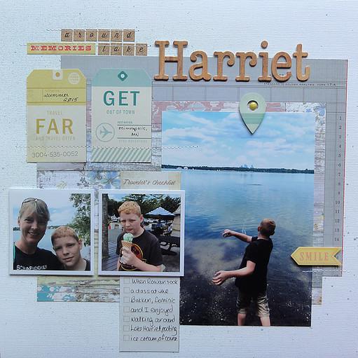 Around lake harriet by jennifer larson original