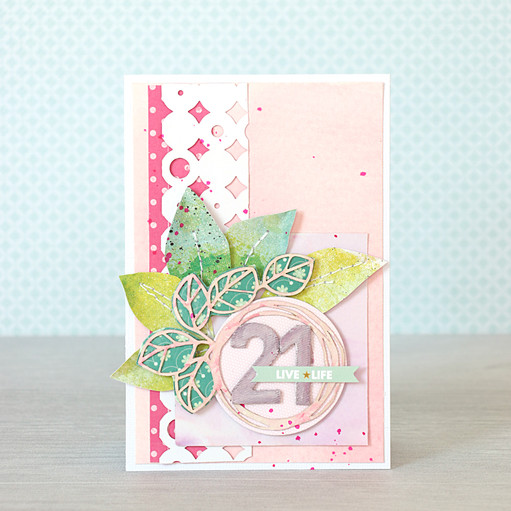 Leafy 21 card by natalie elphinstone original
