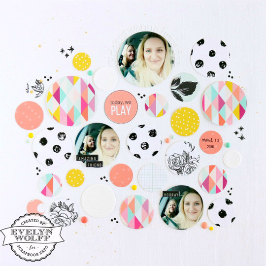 Girls just wanna have fun scrapbooking layout 1 original
