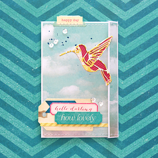 Sizzix hummingbird card by natalie elphinstone original