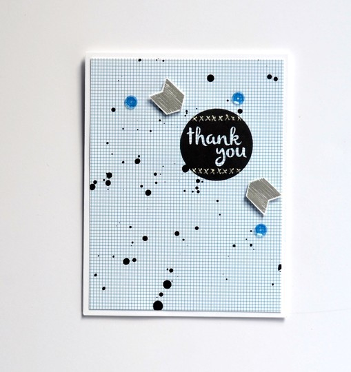 Stitched thank you card original