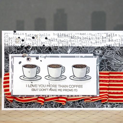 Coffee card by natalie elphinstone original