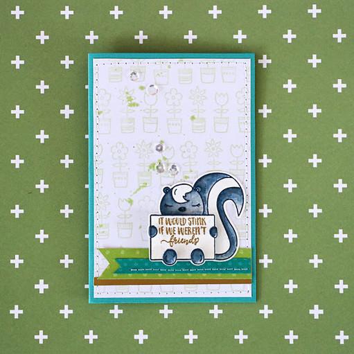 Skunk card by natalie elphinstone original