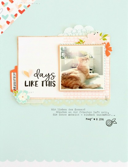 Days like this scrapbooking layout 1 original