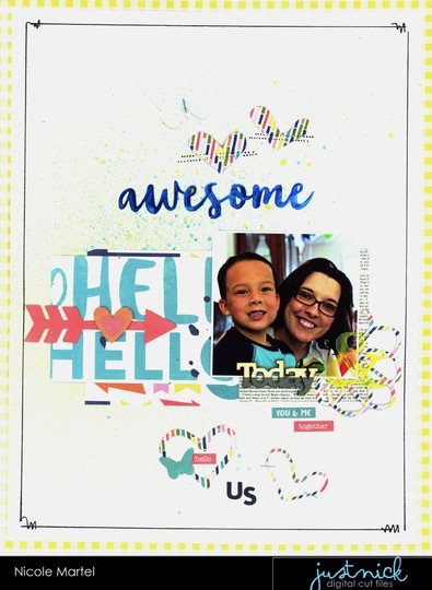 Hello awesome nicole martel jillibean soup just nick studio layout shimmerz paints original