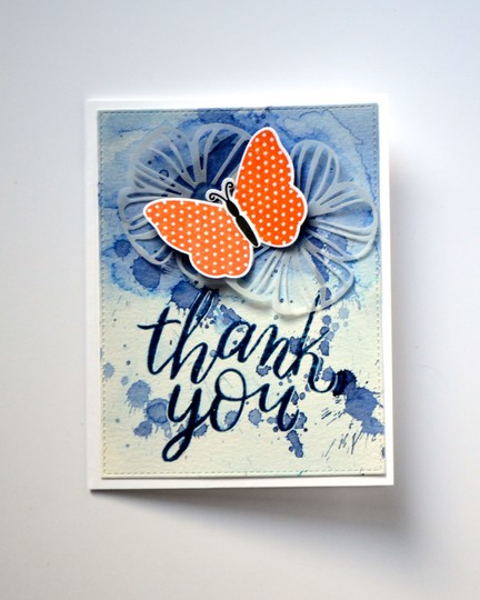 Butterfy thank you card original