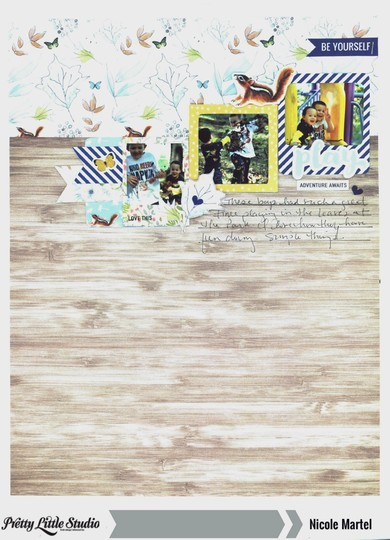 Play pretty little studio nicole martel layout 001 original