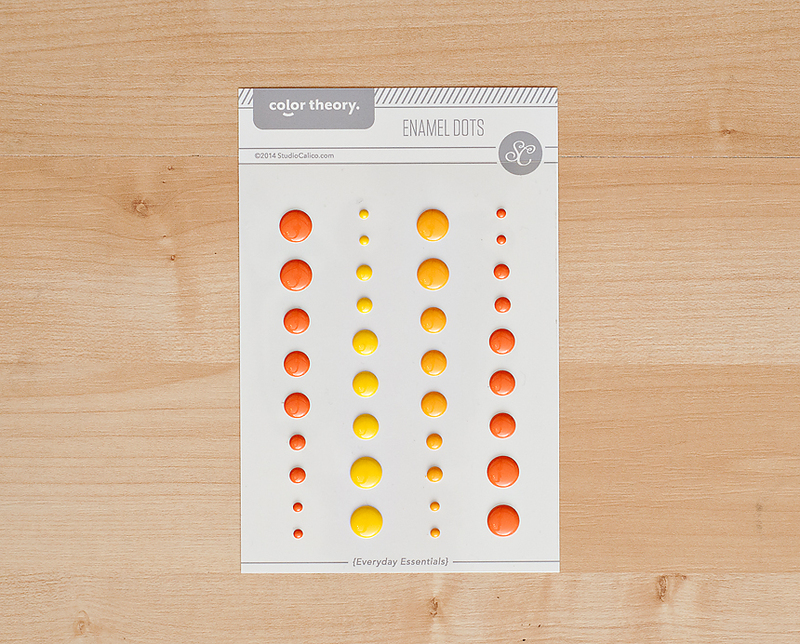 Color Theory Enamel Dots- Yellow