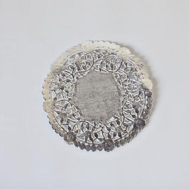 Silver doily 1