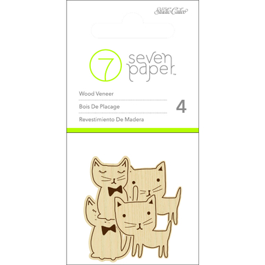 Baxter wood veneer cats   image 1