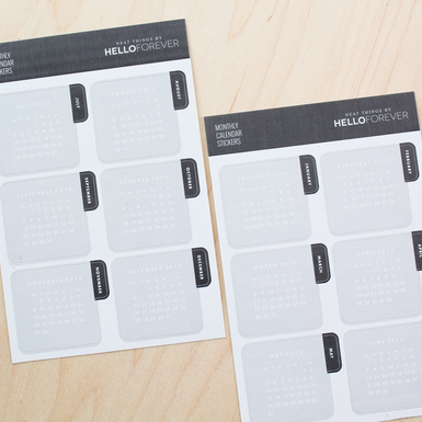 Calendar tab stickers