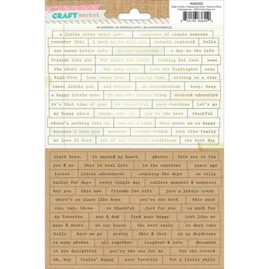 Craft market words and phrases stickers   image 1