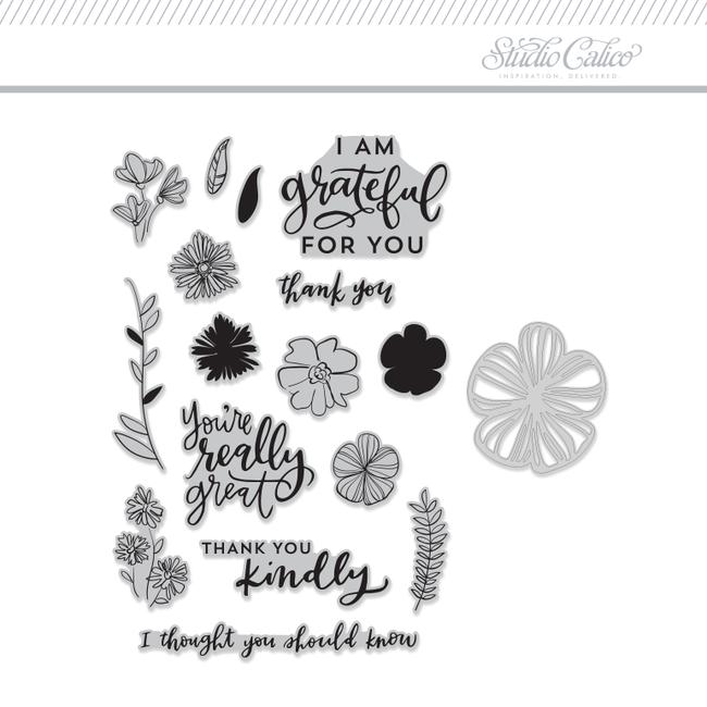Stamp + Die Set: Fleur