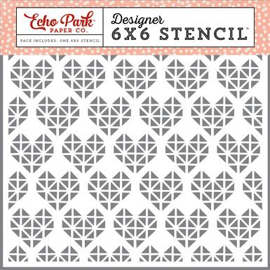 Jby119033 geometric heart stencil