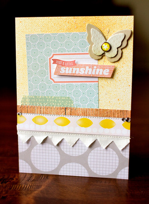 Just a little sunshine card