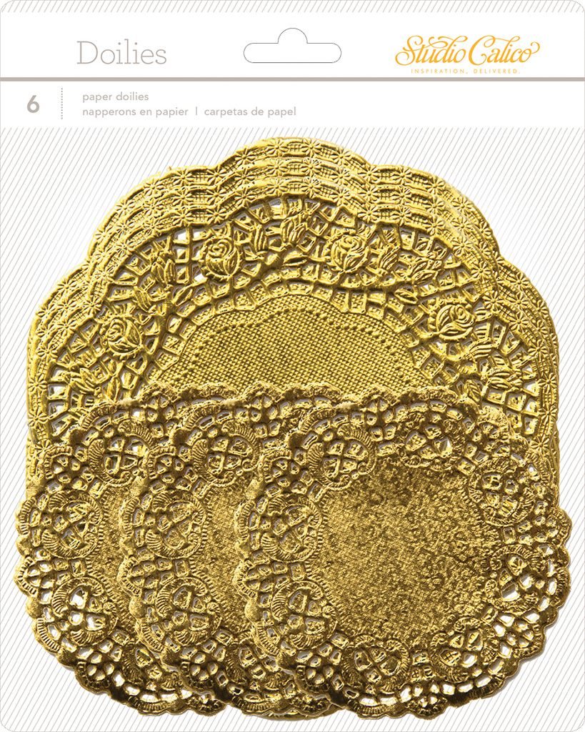 LemonLush Paper Doilies - Gold
