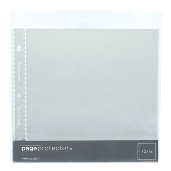 12x12 Page Protectors