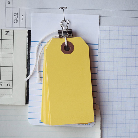Medium Yellow Tags
