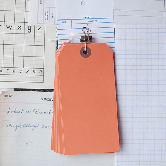 Large Orange Tags
