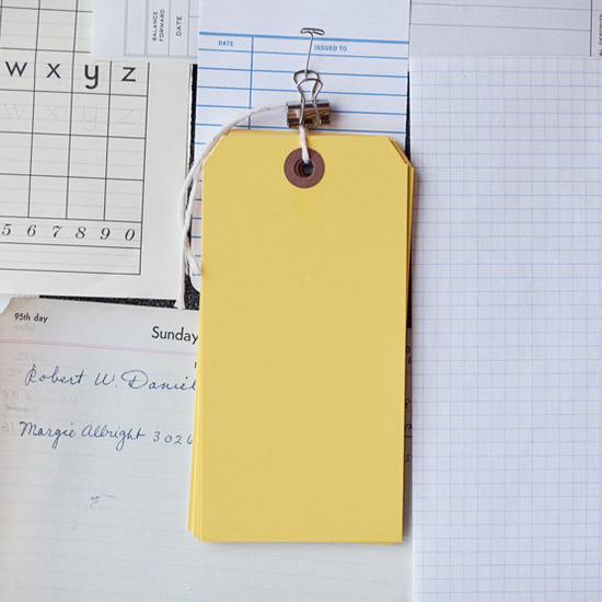 Large Yellow Tags