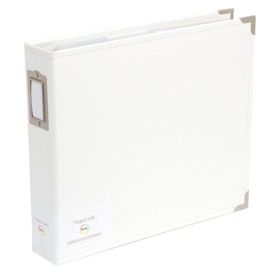 Project Life 12x12 Faux Leather Album-White