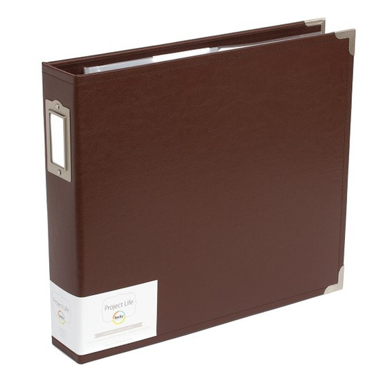 Project Life 12x12 Faux Leather Album-Cinnamon