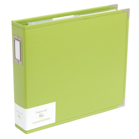 Project Life 12x12 Faux Leather Album-Kiwi